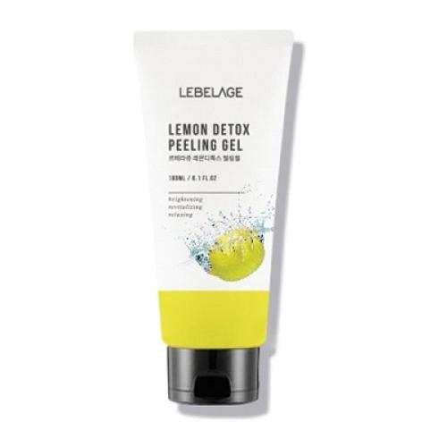 Отшелушивающий гель для умывания с экстрактом лимона Lebelage Lemon Detox Peeling Gel