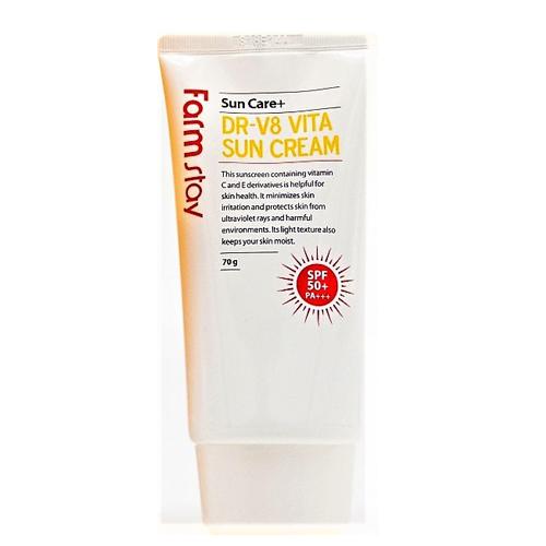 Витаминизирующий солнцезащитный крем Farmstay DR-V8 Vita Sun Cream 20 22 24 26 drawbars