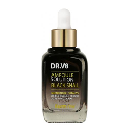 Ампульная сыворотка с муцином черной улитки Farmstay DR-V8 Ampoule Solution Black Snail сыворотка la miso snail ampoule serum объем 35 мл