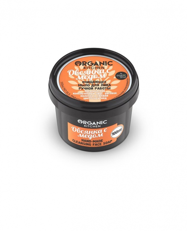 Мыло с медом для природного ухода за кожей Organic Shop OS Мыло для лица очищающее ручной работы Овсянка с медом