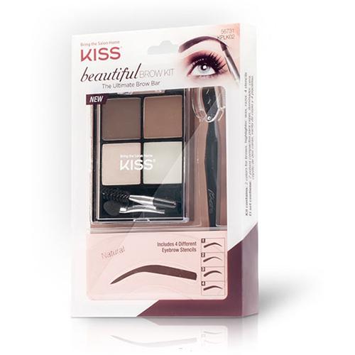 Набор для моделирования бровей Kiss Beautiful Brow Kit ezflow пробный набор для пробного моделирования акриловых ногтей ezflow high definition sample kit 11501 1 шт