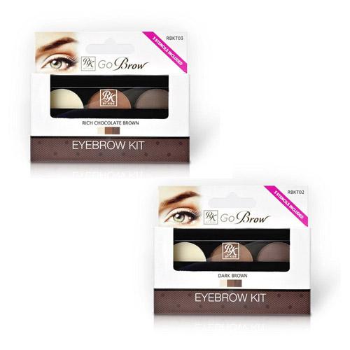 Набор для моделирования бровей Kiss Go Brow Eyebrow Kit набор для бровей kiss go brow eyebrow kit rbkt02 цвет rbkt02 dark brown variant hex name 8c6a61