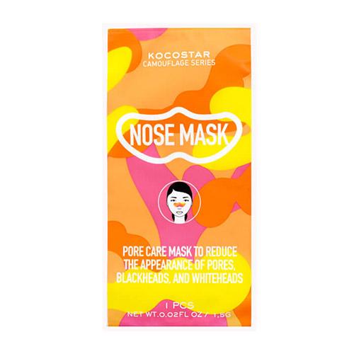 Маска для очищения носа от загрязнённых пор Kocostar Kocostar Camouflage Nose Mask kocostar маска слайс для лица клубника slice mask sheet strawberry 20 мл