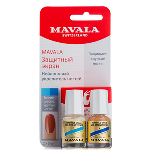 Двухфазная система укрепления ногтей Mavala Mavala Nail Shield 2 x 5 ml cnhids set 36w uv lamp 7 of resurrection nail tools and portable package five 10 ml soaked uv glue gel nail polish