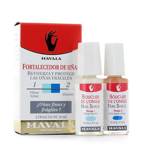 Двухфазная система укрепления ногтевой пластины Mavala Mavala Nail Shield 2 x 10 ml cnhids set 36w uv lamp 7 of resurrection nail tools and portable package five 10 ml soaked uv glue gel nail polish