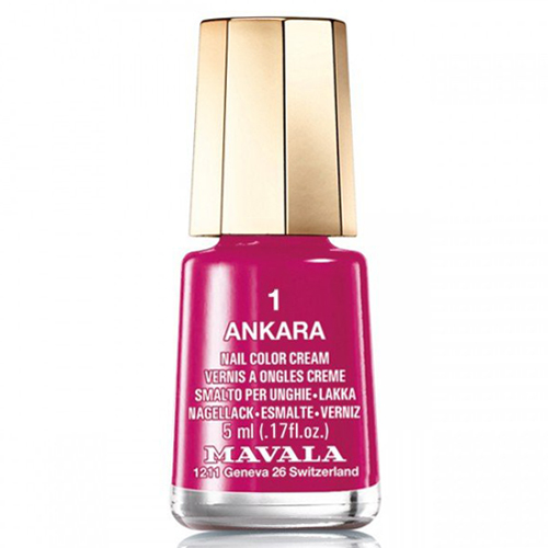 Лак для ногтей малиновый Mavala Mavala Nail Color Cream 001 Ankara лак для ногтей mavala celebrating 50 years collection 185 цвет 185 moscow variant hex name e42d2f