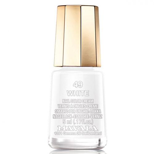 Лак для ногтей без вредных компонентов Mavala Mavala Nail Color Cream 049 White 48w white light uv lamp nail dryer fingernail
