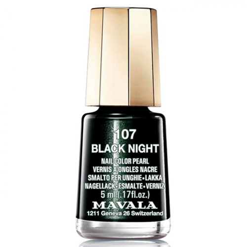 Лак для ногтей без вредных компонентов Mavala Mavala Nail Color Cream 107 Black Night 1pcs water nail art transfer nail sticker water decals beauty flowers nail design manicure stickers for nails decorations tools