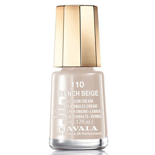 Mavala Mavala Nail Color Cream 110 Trench Beige double breasted overlayed trench coat