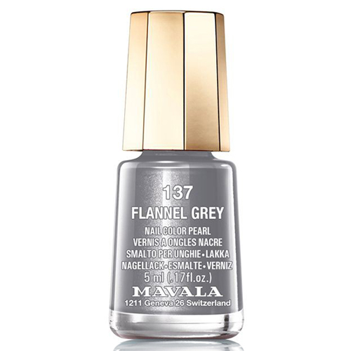 Лак для ногтей без вредных компонентов Mavala Mavala Nail Color Cream 137 Flannel Grey лак для ногтей mavala sublime collection 314 цвет 314 warm grey variant hex name b3a193