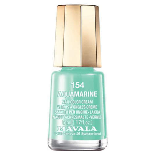 Лак для ногтей без вредных компонентов Mavala Mavala Nail Color Cream 154 Aquamarine лак для ногтей mavala sublime collection 314 цвет 314 warm grey variant hex name b3a193