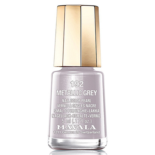 Лак для ногтей без вредных компонентов Mavala Mavala Nail Color Cream 192 Metallic Grey лак для ногтей mavala sublime collection 314 цвет 314 warm grey variant hex name b3a193