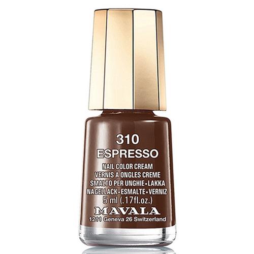 Темно-коричневый лак для ногтей Mavala Mavala Nail Color Cream 310 Espresso mavala набор комплекс 3 mavala nail care 1 2 3 manicure a 11 072 1 шт