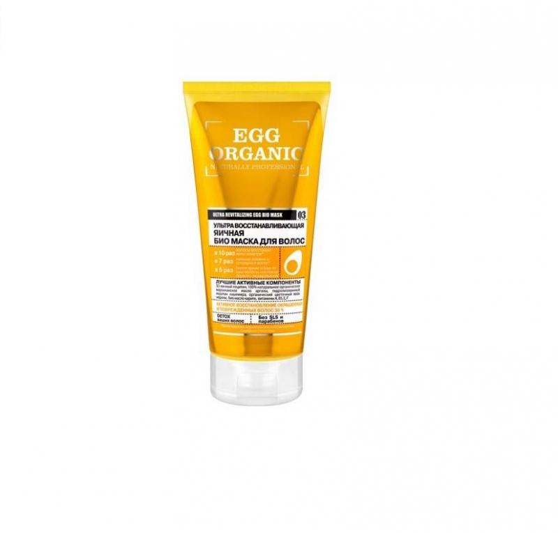 Яичная маска для волос Organic Shop