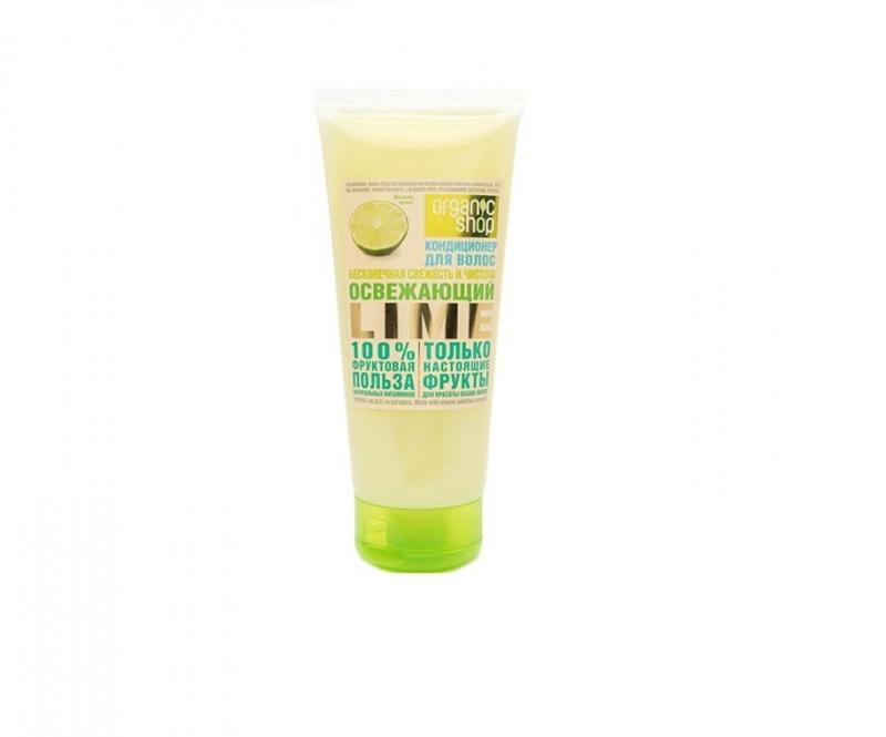 Кондиционер для волос Освежающий лайм Organic Shop OS кондиционер для волос освежающий лайм