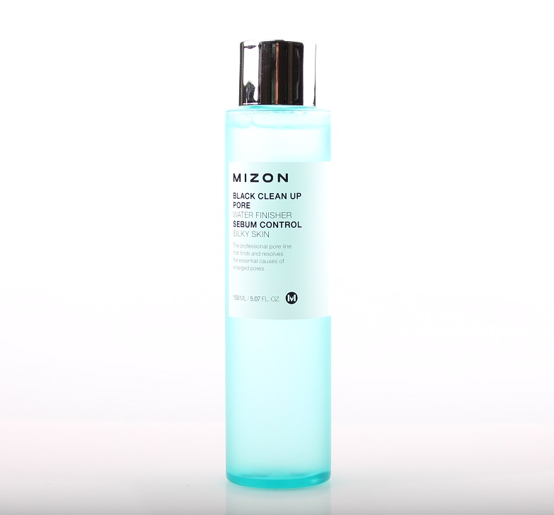 Очищающий тонер Mizon Black Clean Up Pore Water Finisher