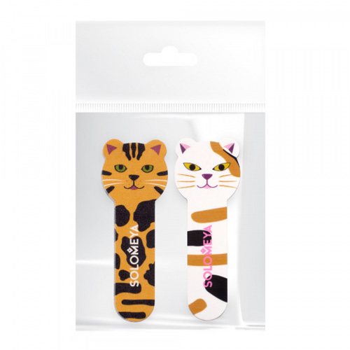 Набор для натуральных и искусственных ногтей Solomeya Tiger Nail File 180/220 and Kitty Shiner 400/3000