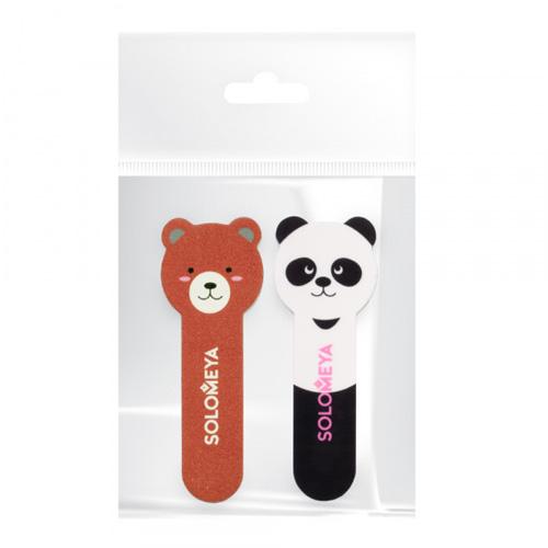 Набор для натуральных и искусственных ногтей Solomeya Little Bear Nail File 180/220 and Llittle Panda Shiner 400/3000 you and me little bear