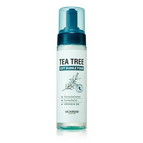 Воздушная пенка для умывания с чайным деревом SKINFOOD Tea Tree Soft Bubble Foam