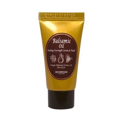 Ночная маска-сыворотка для лица с эффектом пилинга SKINFOOD Balsamic Oil Peeling Overnight Serum Mask