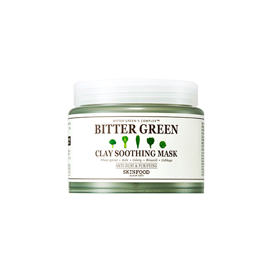 Успокаивающая маска для лица с растительным комплексом SKINFOOD Bitter Green Clay Soothing Mask mool anti spy signal bug rf detector camera lens gsm device tracer finder
