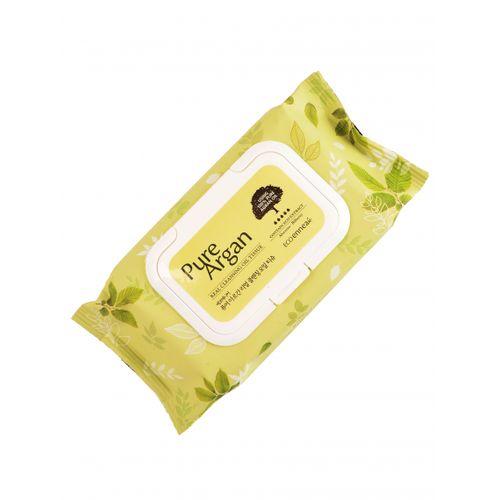Влажные салфетки для снятия макияжа Welcos Ecoennea Pure Argan Real Cleansing Oil Tissue