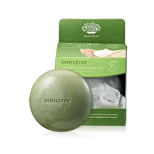 минеральное мыло Innisfree Green Tea Cleansing Bar