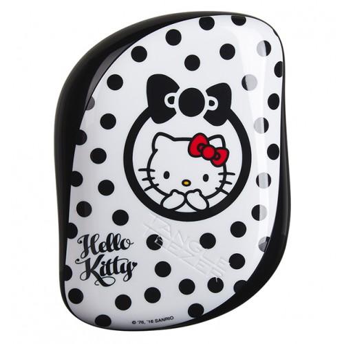 Удобная миниатюрная расческа для ухода за волосами Tangle Teezer Tangle Teezer Compact Styler Hello Kitty Black расчески и щетки tangle teezer compact styler hello kitty pink цвет hello kitty pink variant hex name fcc4d1