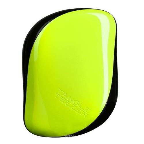 Миниатюрная расческа для ыстрого и бережного распутывания волос Tangle Teezer Tangle Teezer Compact Styler Yellow Zest
