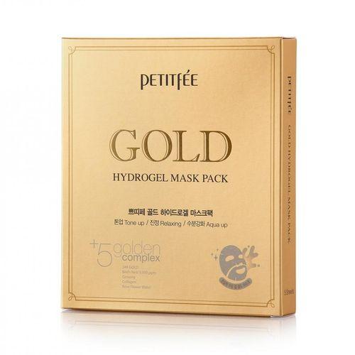 Гидрогелевая маска с золотом Petitfee Gold Hydrogel Mask Pack anon маска сноубордическая anon somerset pellow gold chrome