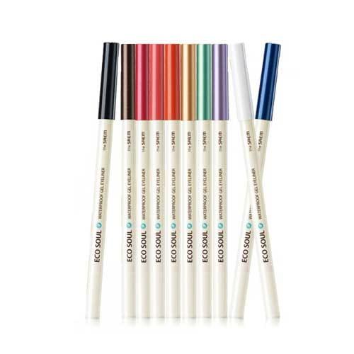 Водостойкий гелевый карандаш для глаз The Saem Eco Soul Powerproof Gel Eyeliner the saem eco soul spau gel bb spf30 pa natural beige бб крем гелевый тон 02 40 мл