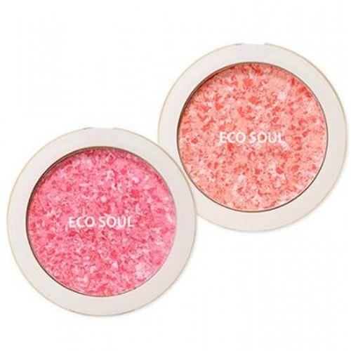 Компактные румяна The Saem Eco Soul Carnival Blush clarins blush prodige компактные румяна 03 miami pink
