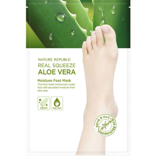 Маска для ног Nature Republic Real Squeeze Aloe Vera Moisture Foot Mask nature republic honey