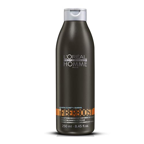 Уплотняющий шампунь-уход  выпадения волос L'oreal Professionnel Homme Fiberboost Shampoo