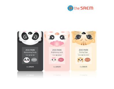 Тканевые маски с зверюшками The Saem Zoo Park Mask Sheet