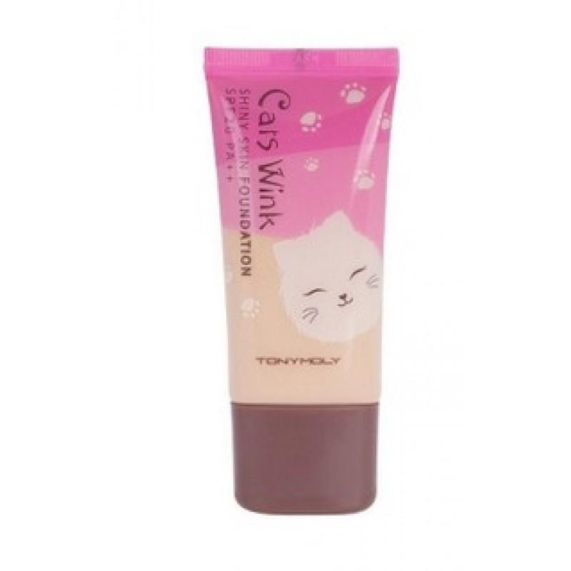 Увлажняющая база под макияж Tony Moly Cats Wink Shiny Skin Base 01