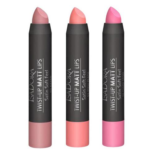 Матовая помада-карандаш для губ с бархатной текстурой IsaDora Twist-Up Matt Lips isadora блеск карандаш twist up gloss stick 10 цвет 10 lovely lavender variant hex name d8a4b0