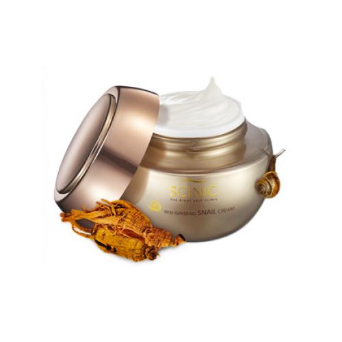 Увлажняющий крем с женьшенем Scinic Red Ginseng Snail Cream крем llang prestige ginseng cargo cream