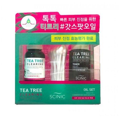 Набор средств для проблемной кожи Scinic Tea Tree Clearing Oil Set