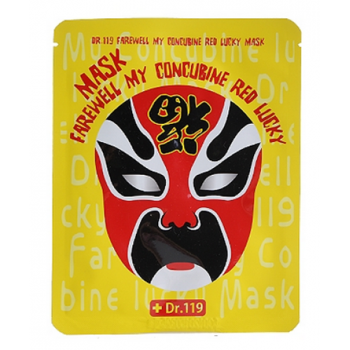 тканевая маска с алоэ Baviphat Dr.119  Farewell My Concubine Red Lucky Mask тонизирующая тканевая маска baviphat dr 119 farewell my concubine yellow lucky mask