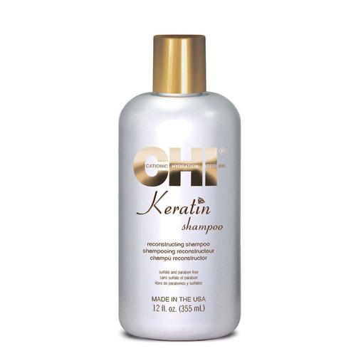 Кератиновый шампунь для поврежденных и ломких волос CHI Keratin Shampoo chi keratin reconstructing conditioner