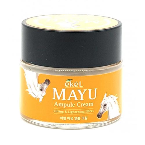 Ампульный крем для лица с лошадиным жиром Ekel Mayu Ampoule Cream питательный крем для лица c лошадиным жиром elizavecca milky piggy origin ma cream