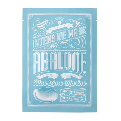 Тканевая маска для лица с экстрактом морских моллюсков Blithe Blue Zone Marine Intensive Mask Abalone