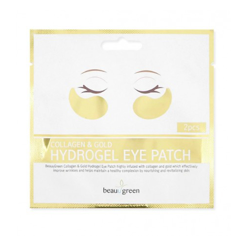Гидрогелевые патчи с коллагеном и коллоидным золотом BeauuGreen Collagen and Gold Hydrogel Eye Patch 2 pcs 2017 new air pressure electric eye massage vibration and heating dispel eye bags eye magnetic far new heating