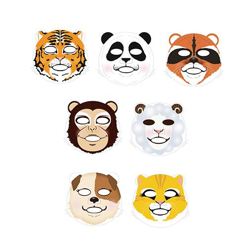 Тканевые зверо-маски Berrisom Animal Mask Series