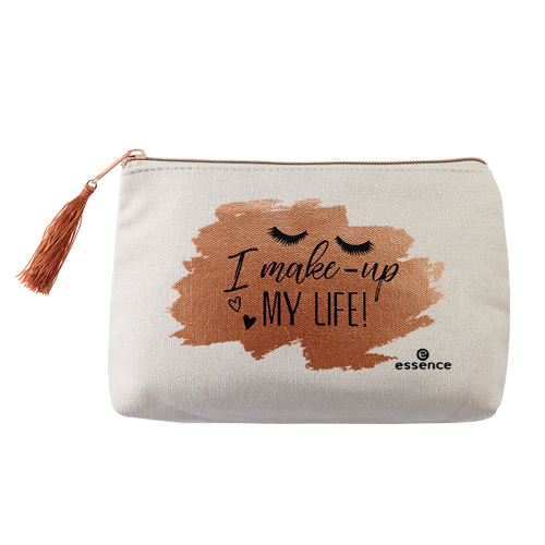 Фото - Объемная и удобная косметичка на молнии Essence Make-Up Bag I Make-Up My Life креативная кукла make up organizer bag women cosmetic bags ourdoor travel bag