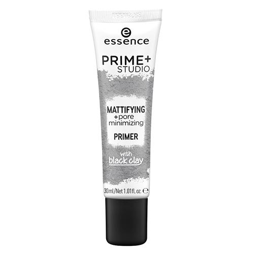 Праймер с чёрной глиной, уменьшающий расширенные поры Essence Mattifying and Pore Minimizing Primer