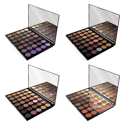 Палетки из 35 оттенков теней для глаз с зеркалом MakeUp Revolution Pro HD Palette Amplified 35 msq makeup brushes set pro 7pcs high quality goat
