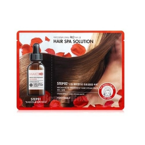 Лечебная маска для волос с тепловым эффектом Tony Moly Make HD Argan Rose Hair Pack 2018 the newest argan oil steam hair straightener flat iron injection painting 450f straightening irons hair care styling tools