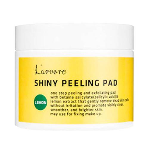 Очищающие пилинг диски для лица с экстрактом лимона Lemon Shiny Peeling Pad винные пилинг пэды elizavecca hell pore perfect wine sparkling peeling pad